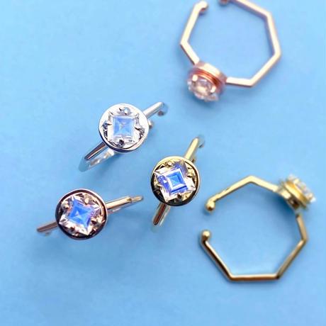 perfume bottle series earcuff Msize<royal blue moonstone>
