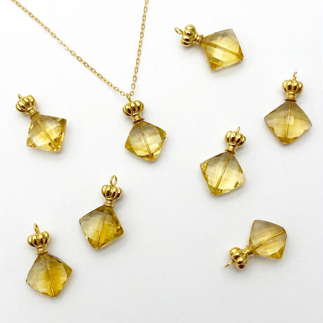 perfume bottle series necklace <citrine>