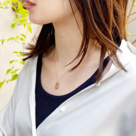 perfume bottle series necklace <rutile quartz>