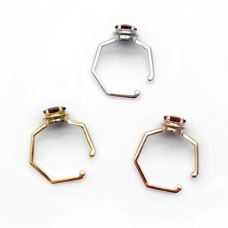 perfume bottle series earcuff Msize<garnet>