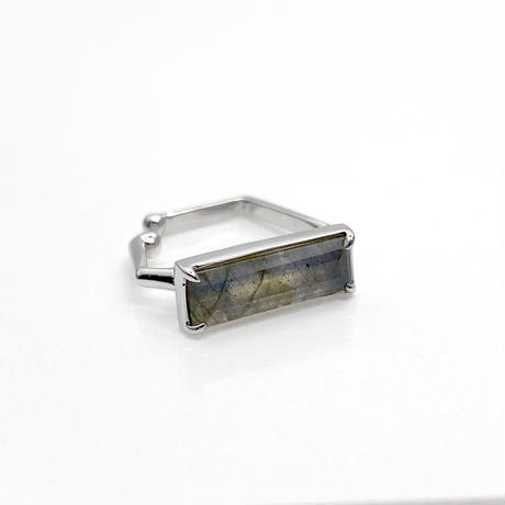 perfume bottle series earcuff Square size<labradorite>