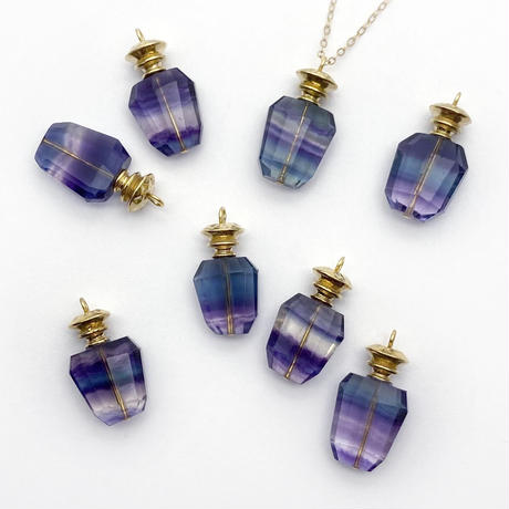 perfume bottle series necklace <fluorite>