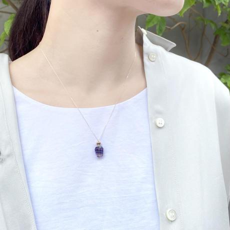 perfume bottle series necklace <fluorite>  K10