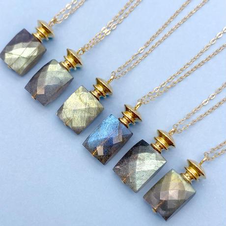 perfume bottle series necklace <labradorite>