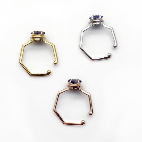 perfume bottle series earcuff Msize<iolite>