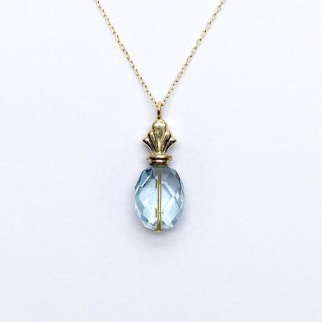 perfume bottle series necklace <aquamarine>  K10