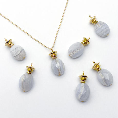 perfume bottle series necklace <lace agate>