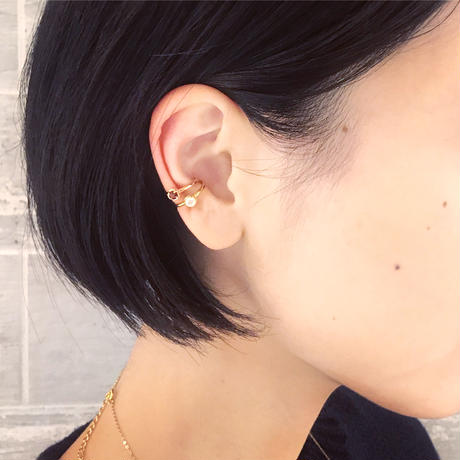 perfume bottle series earcuff Ssize<rhodolite garnet>