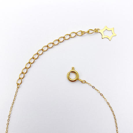 perfume bottle series necklace <pink opal>