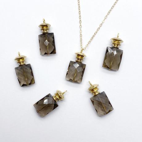 perfume bottle series necklace <smoky quartz>