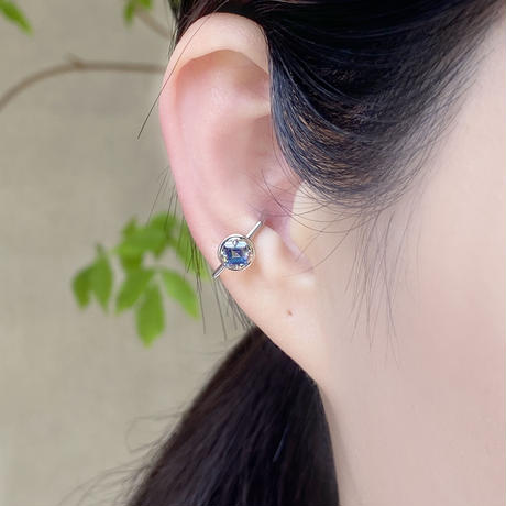 perfume bottle series earcuff Msize<mysticTopaz blue>