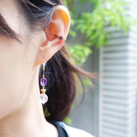 perfume bottle series earcuff Ssize<amethyst>