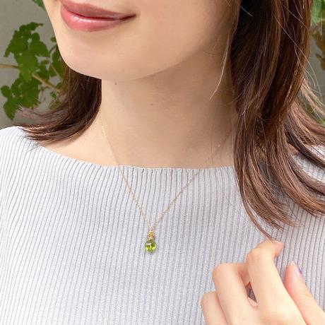 perfume bottle series necklace <peridot>
