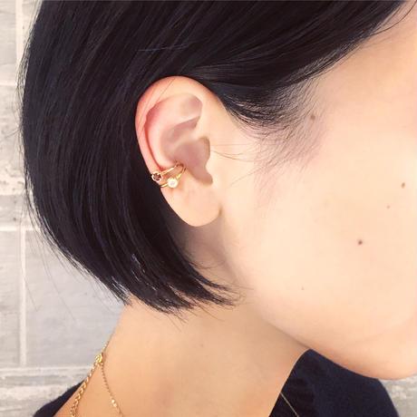 perfume bottle series earcuff Ssize<cubic zirconia>