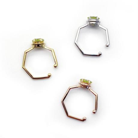 perfume bottle series earcuff Msize<peridot>
