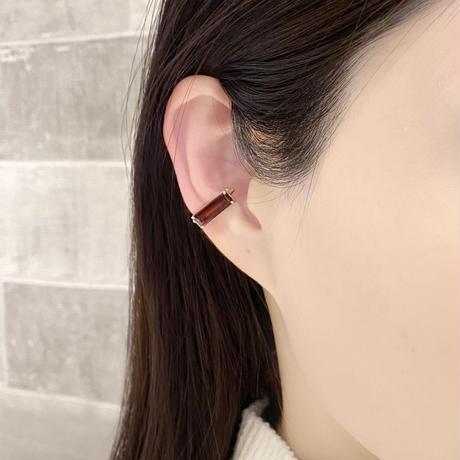 perfume bottle series earcuff Square size<garnet>