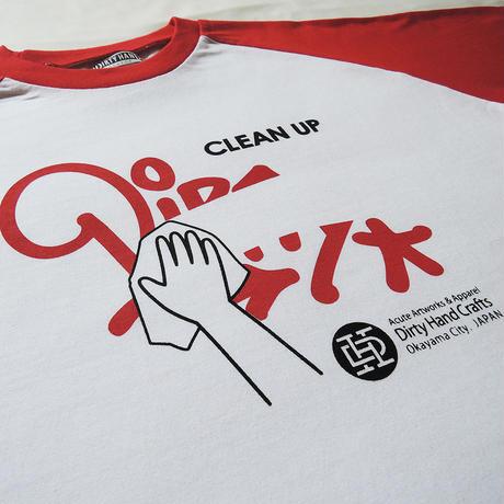 """CLEAN UP"" Raglan T-Shirts"