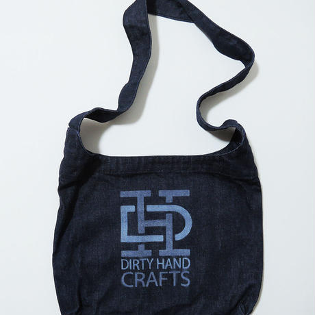 """DIRTY HAND CRAFTS"" LOGO Denim Shoulder bag"
