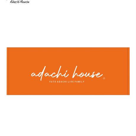 ADACHI HOUSE TOUR2021 NEWタオル(オレンジ:小文字)