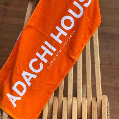 ADACHI HOUSE 2021 NEWタオル(オレンジ:大文字)
