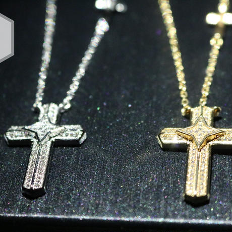 W cross necklace