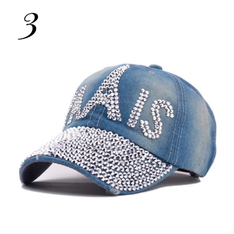 Denim P cap