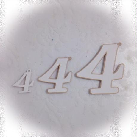 ナンバー(Lサイズ)ホワイト