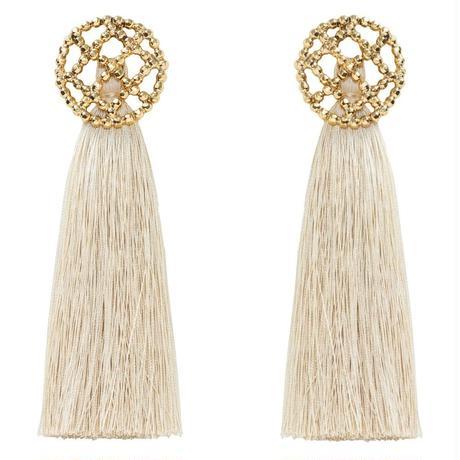 CUTSTEEL quilt tassel 2way pierce/earring(gold)