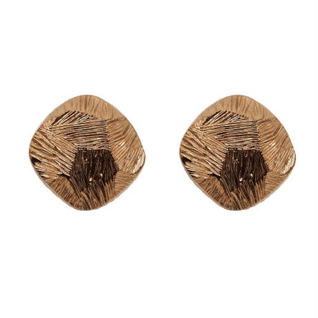 VINTAGE button earring(gold)