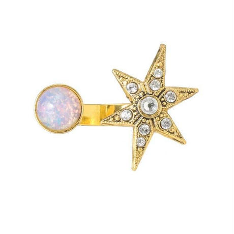 MOON&STAR cabochon ring (gold)
