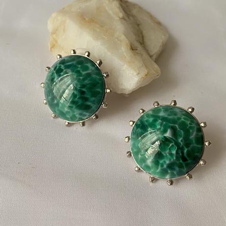 STONE earring(green)
