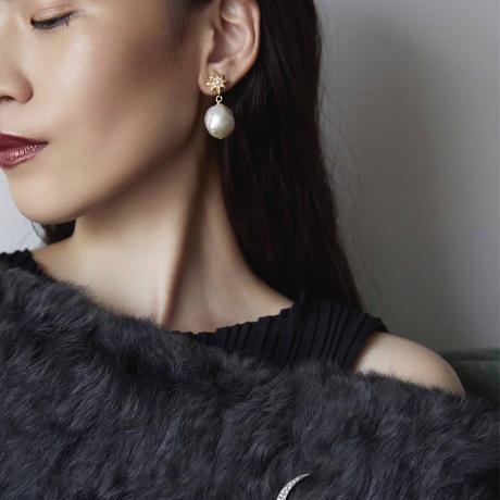 STAR baroque pearl earring (big pearl)