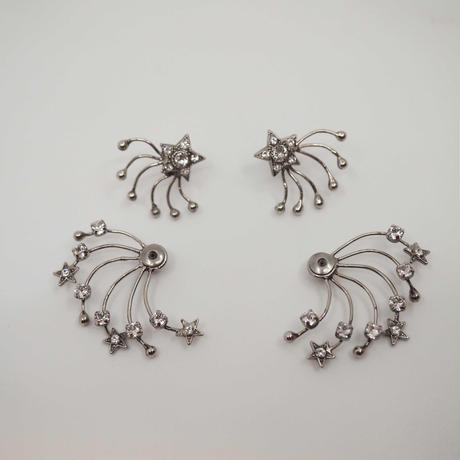 STAR FILIGREE solid earring/pierce (silver)