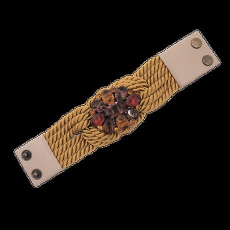 【Unique Line】Vintage code bracelet(base:gold)