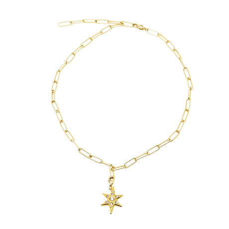 CHARM squere necklace(gold)