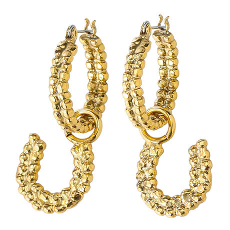 Horseshoe hoop pierce  (gold)