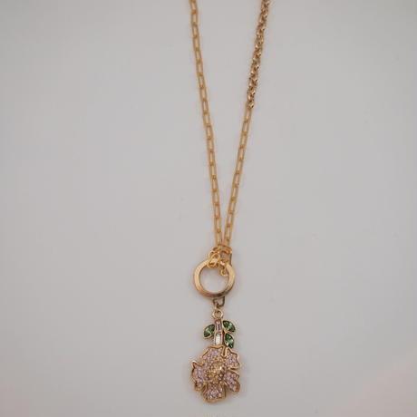 VINTAGE FLOWER deisy 2way chain necklace
