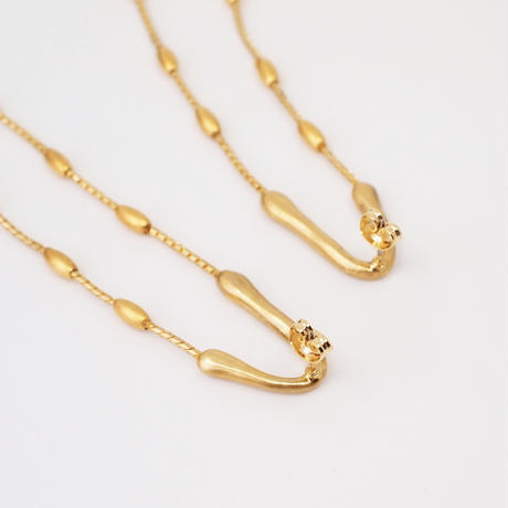 GOUTTE long pierce/earring (gold)