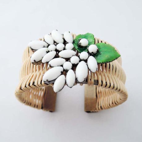 LILA rattan bangle wide