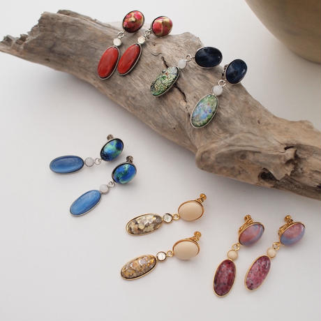 【LIMITED】Vintage cabochon earring