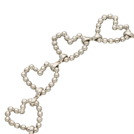 CUT STEEL HEART chorker(silver)
