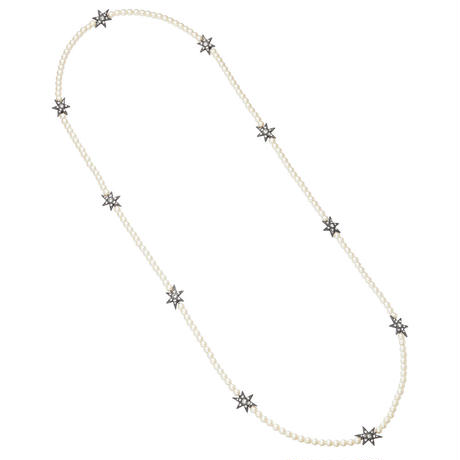 STAR pearl long necklace
