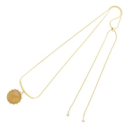 STONE adjaster necklace(camel)
