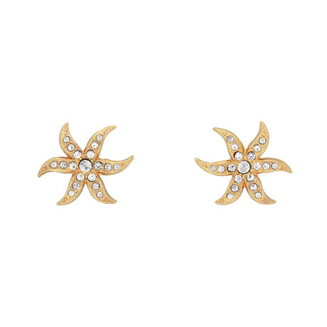 ETOILE DE MER 2way pearl fringe pierce(gold)