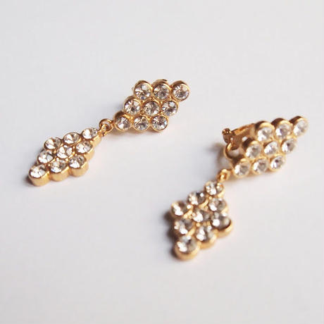 DIAMANTE crystal pierce / earring