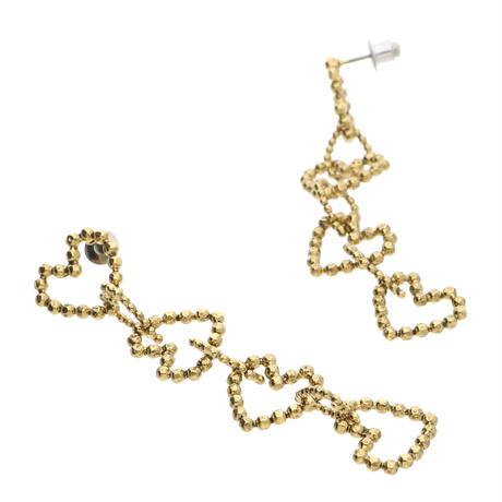 CUT STEEL HEART earring/pierce