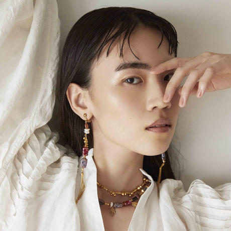LA TERRE vintage beads necklace