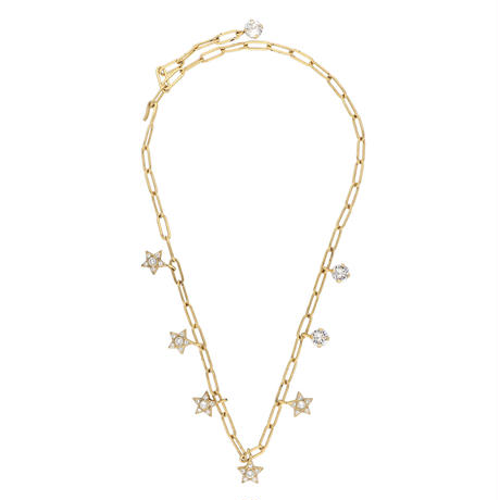 STAR chain necklace (gold)