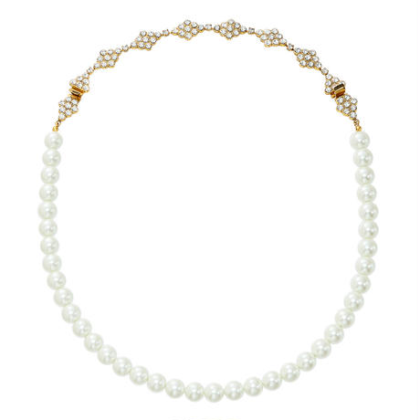 DIAMANTE 2way pearl necklace
