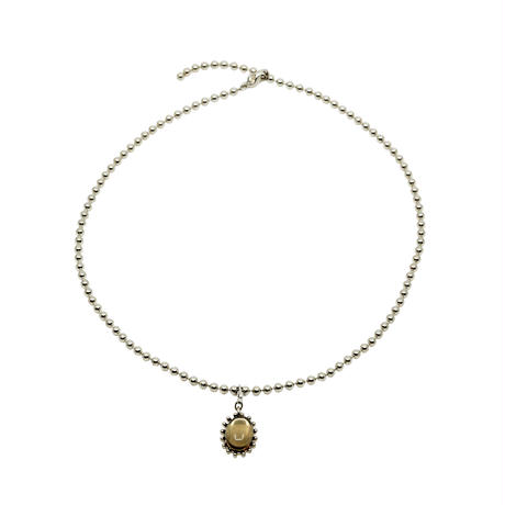 CHARM ballchain necklace(silver)